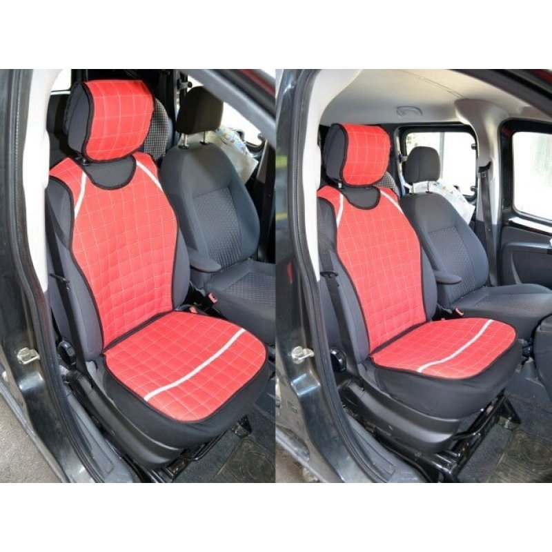 Протектори за предни седалки - червени
