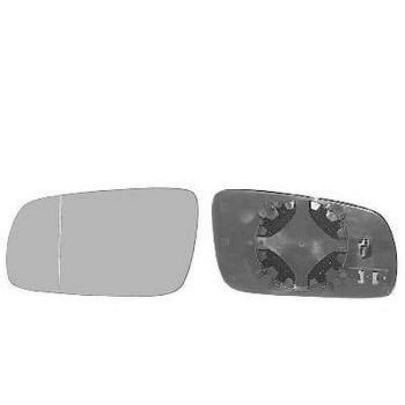 Стъкло за огледало ляво асферично с подгрев хром 17 см Виж моделите
