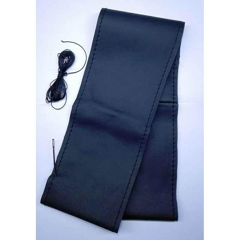Калъф за волан черен с черен шев, черен конец размер L