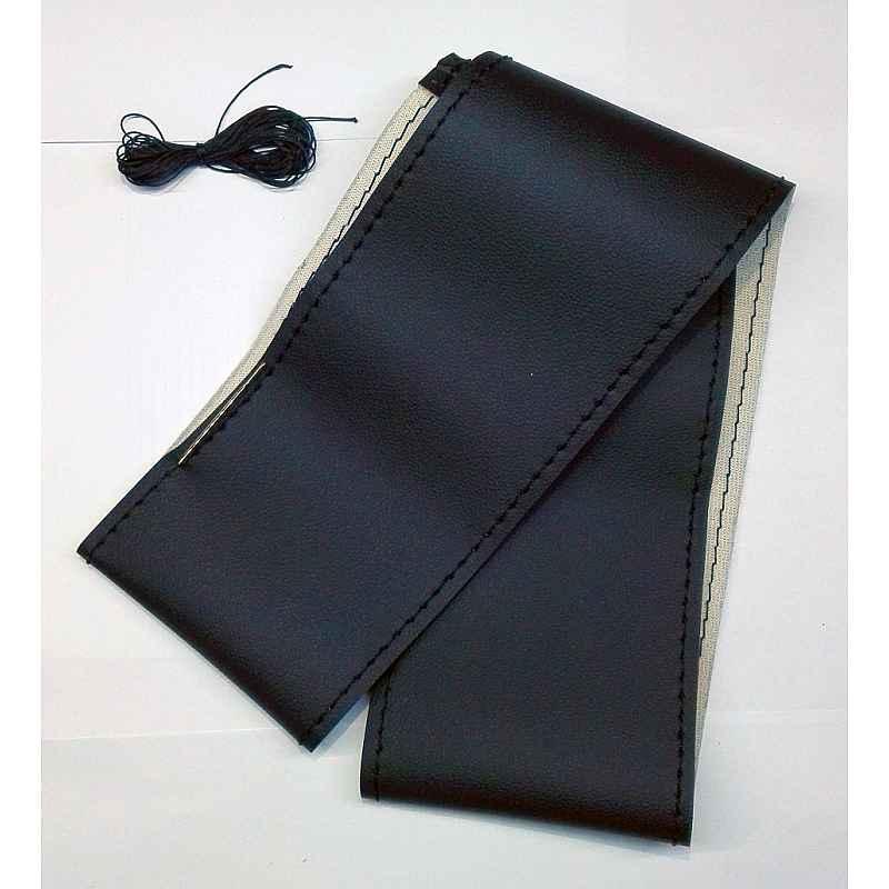Калъф за волан черен с черен шев, черен конец размер от S до XL