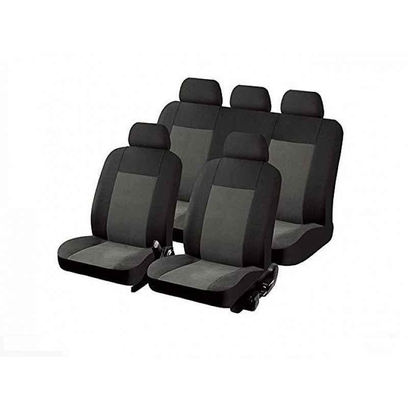 Калъфи за седалка сиво - черни TEXAS 11 части
